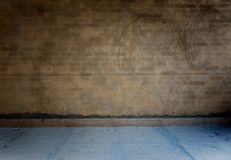 Grunge bare concrete room Royalty Free Stock Photo