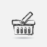 Grunge basket icon Stock Photography