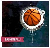 Grunge basketball Stock Photos