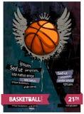 Grunge basketball Royalty Free Stock Photo