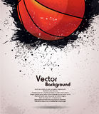 Grunge basketball background Stock Photography