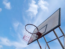 Grunge basketball basket Stock Photos