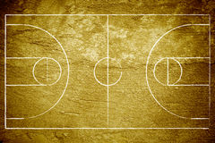 Grunge Basketball Court Royalty Free Stock Photos