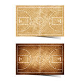 Grunge  Basketball field recycled paper Royalty Free Stock Photography