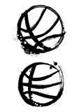 Grunge Basketballvektor Stockfotografie