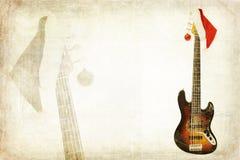 Grunge Bass Guitar Stock Images