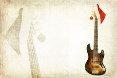 Grunge Bass Guitar Stock Images