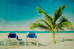 Grunge beach Royalty Free Stock Images