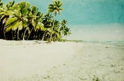 Grunge beach stock photo