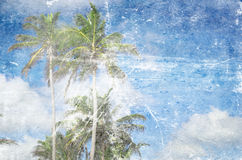 Grunge beach royalty free stock image