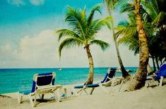 Grunge beach Royalty Free Stock Photo