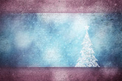 Grunge beautiful Xmas tree snowy greeting card background Royalty Free Stock Photo