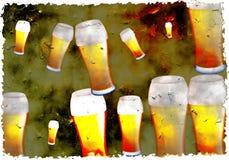 Grunge beer royalty free illustration