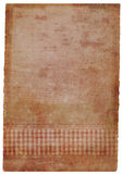 grunge befleckte handgemachtes Blatt Papier im Rosa Stockbild