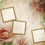 Grunge beige wedding background Stock Photo