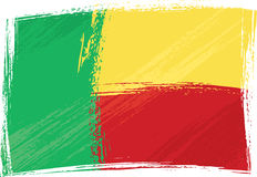 Grunge Benin flag Stock Images