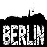 Grunge Berlin with skyline Stock Photo
