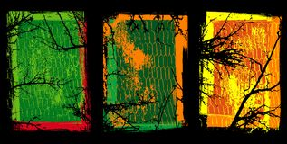 Grunge Beschaffenheiten mit Bäumen Lizenzfreies Stockfoto