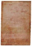 grunge bevlekt met de hand gemaakt stuk van document in roze Stock Afbeelding
