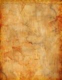 Grunge bevlekte perkamentachtergrond voor vlieger of affiche Stock Fotografie