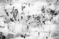 Grunge białego metalu ściana z obieranie farbą Zdjęcia Royalty Free