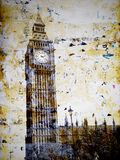 Grunge Big Ben tower Stock Images