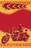 Grunge biker frame Stock Photography