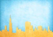 Grunge bild av cityscape Fotografering för Bildbyråer