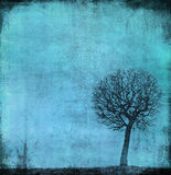 Grunge bild av en tree på ett tappningpapper Royaltyfria Foton