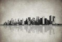 Grunge bild av New York horisont