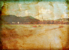 Grunge Bild des Patong Strandes Lizenzfreies Stockfoto