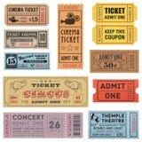 Grunge biletów kolekcja 1 Zdjęcia Royalty Free