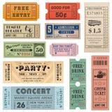 Grunge biletów Wektorowa kolekcja 2 Zdjęcia Royalty Free