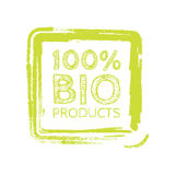 Grunge bio 100 percent natural rubber stamp,  illustration.  Stock Image
