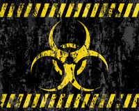 Grunge biohazard sign background Royalty Free Stock Photography