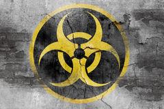 Grunge biohazard symbol Royalty Free Stock Photography