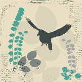 Grunge bird Stock Images