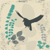 Grunge bird. Grunge stylized background with bird Stock Images