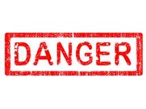 grunge biura pieczęć niebezpieczeństw ilustracja wektor