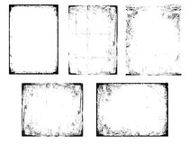 Grunge Black And White Urban Vector Texture Frames. Distressed Texture Background. Collection Of Urban Grunge Abstract Textures On Stock Photos