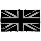 Grunge Black British Background. Flag Royalty Free Stock Images