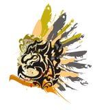 Grunge black dragon Royalty Free Stock Photography