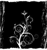 Grunge black floral background Royalty Free Stock Image
