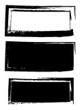 Grunge black frame vector background set. Dirty stylish shape. Ink blot background Royalty Free Stock Image