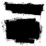 Grunge black ink banner stock illustration