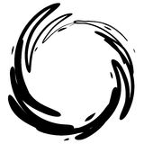 Grunge Black Ink Circle Stain Stock Photo