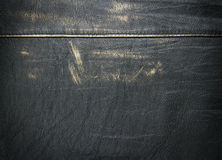Grunge black leather background. Old, grunge, worn leather background Royalty Free Stock Photos