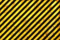 Grunge Black and Orange Pattern. Grunge Black and Orange Surface as Warning or Danger Pattern, Old Metal Textured Royalty Free Stock Photography