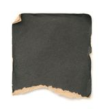 Grunge black paper. A piece of grunge paper on white background Stock Images