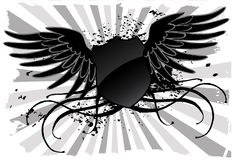 Grunge black shield Royalty Free Stock Photography